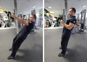 TRX single arm row - TRX cvik na záda