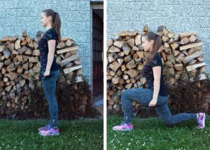Výpady - cvik na stehna