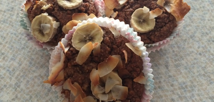 Banánové muffiny bez mouky